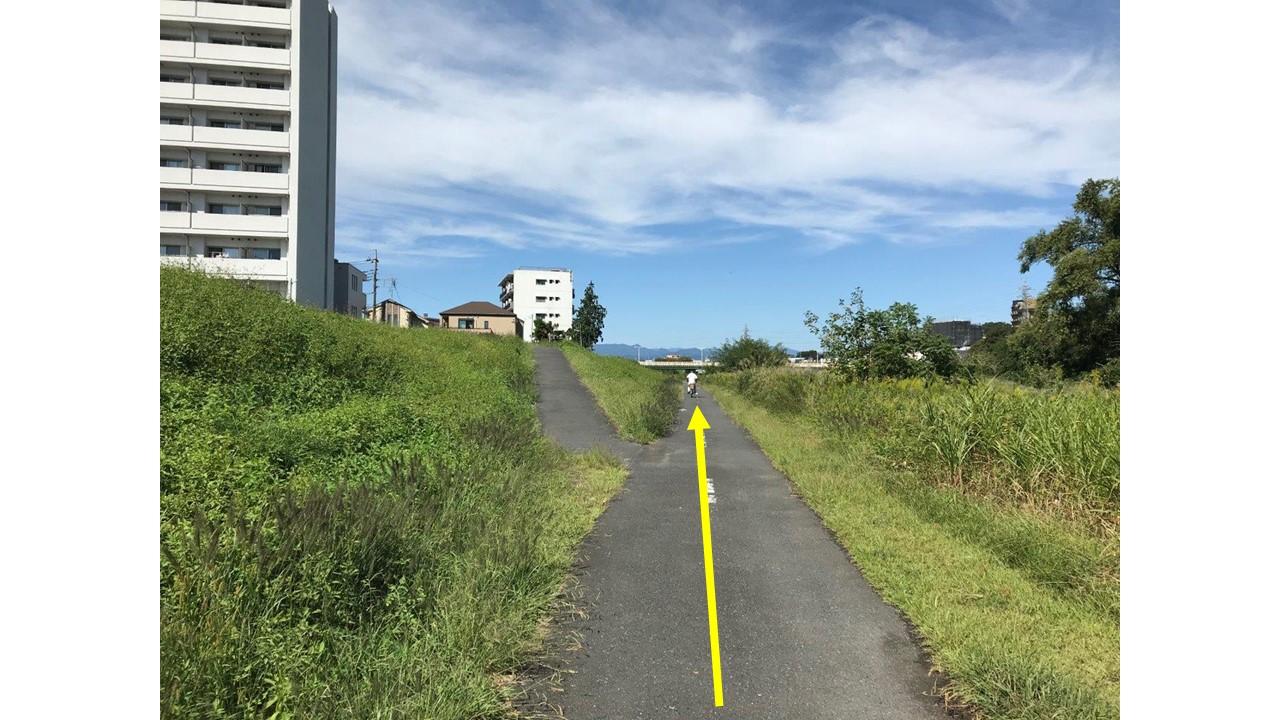 暁橋へ向かう道