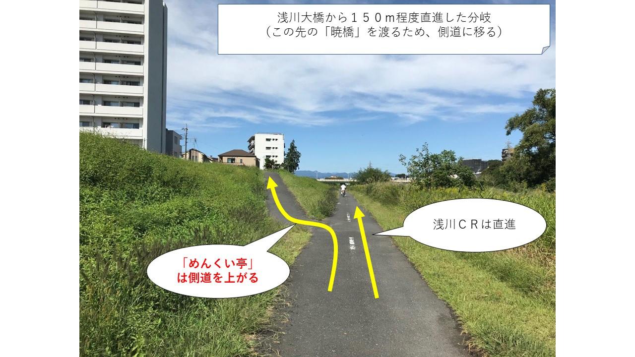 めんくい亭へ向かう道側道