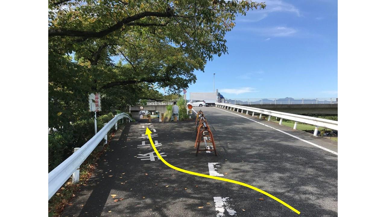 鶴巻橋側道