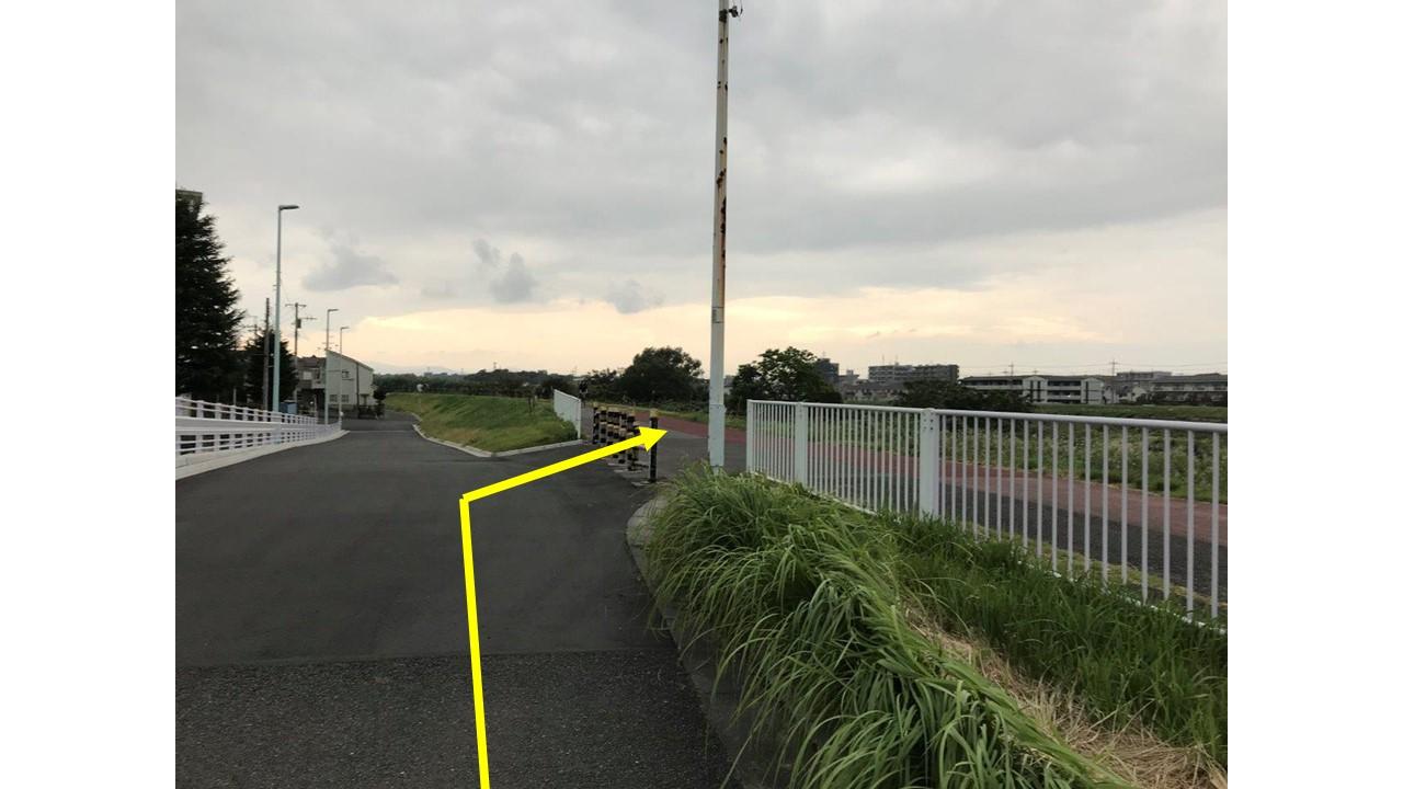 新井橋通過後