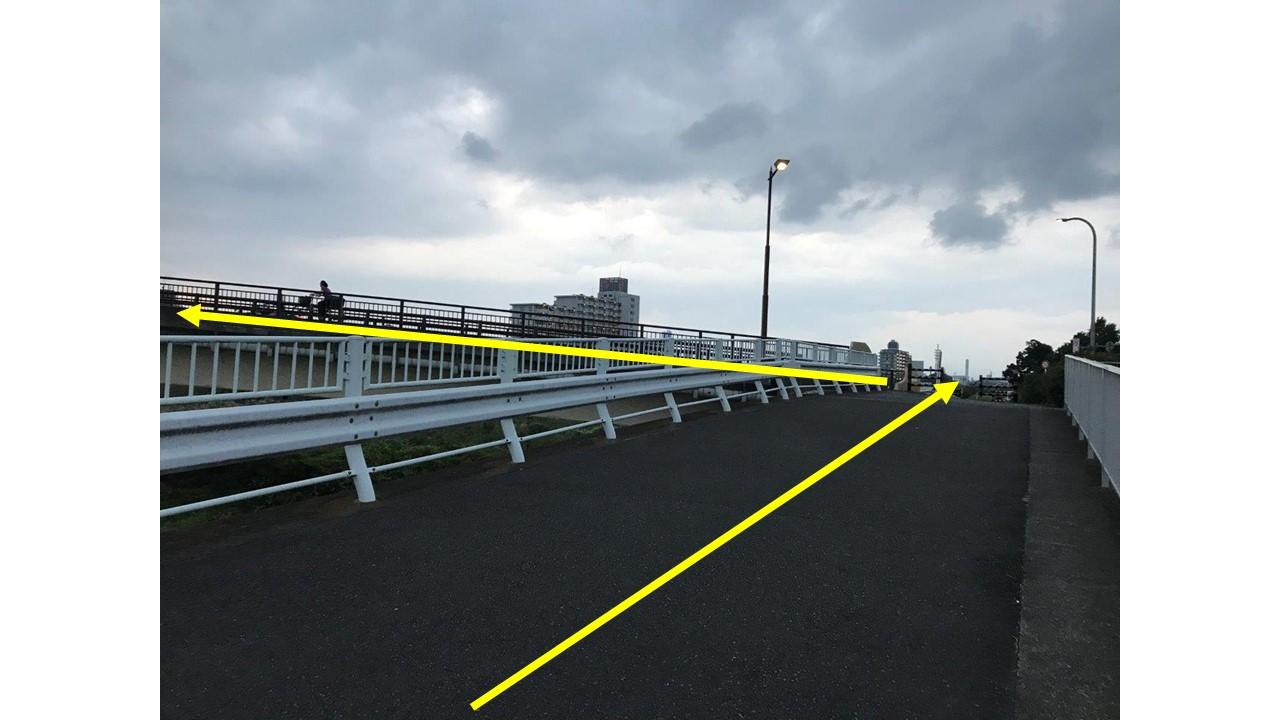 長沼橋左折