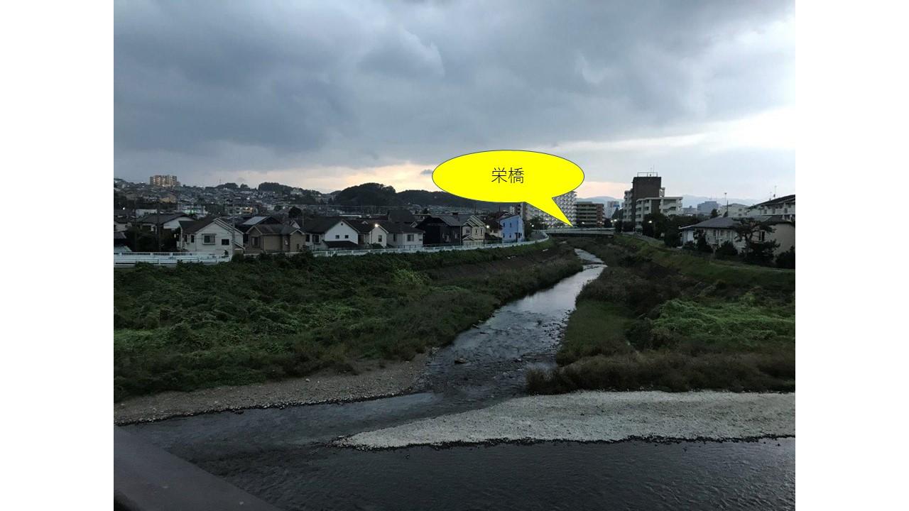 長沼橋から栄橋を眺める