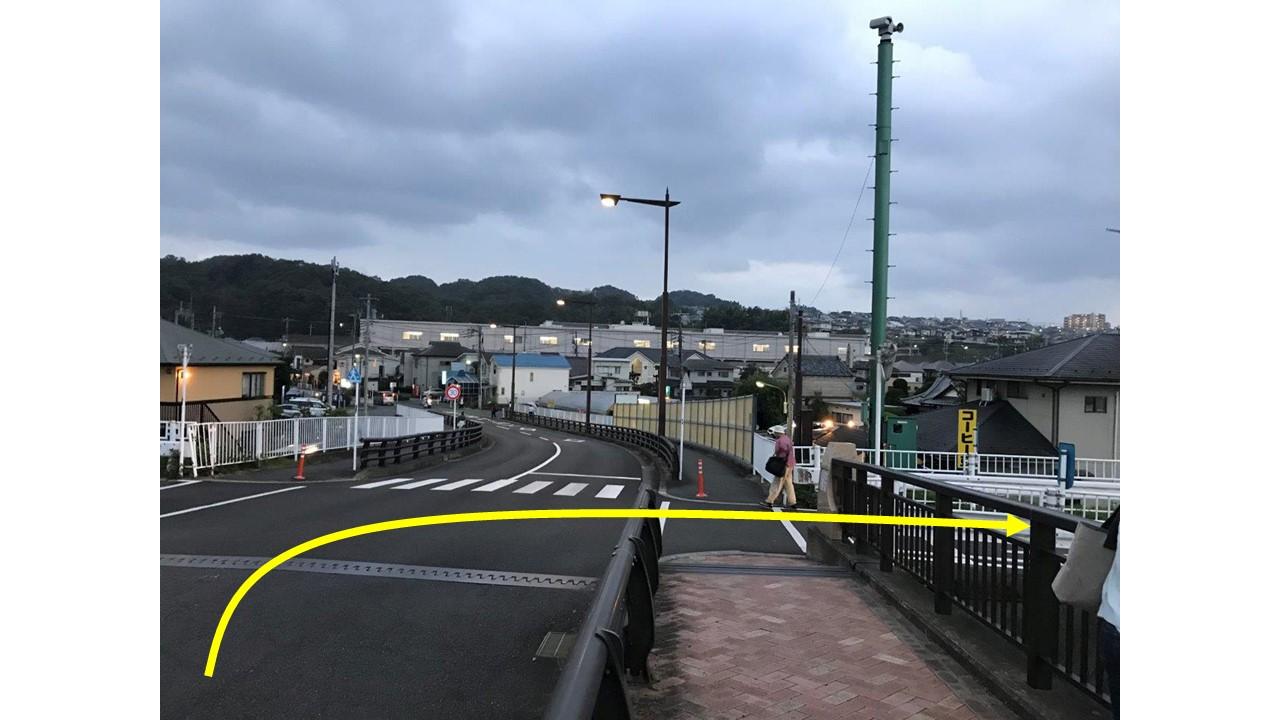 長沼橋右折ポイント