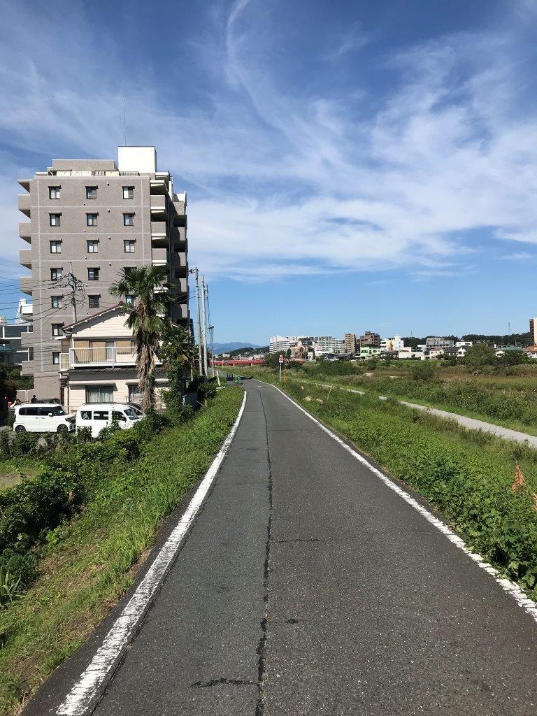 大和田橋へ向かう道