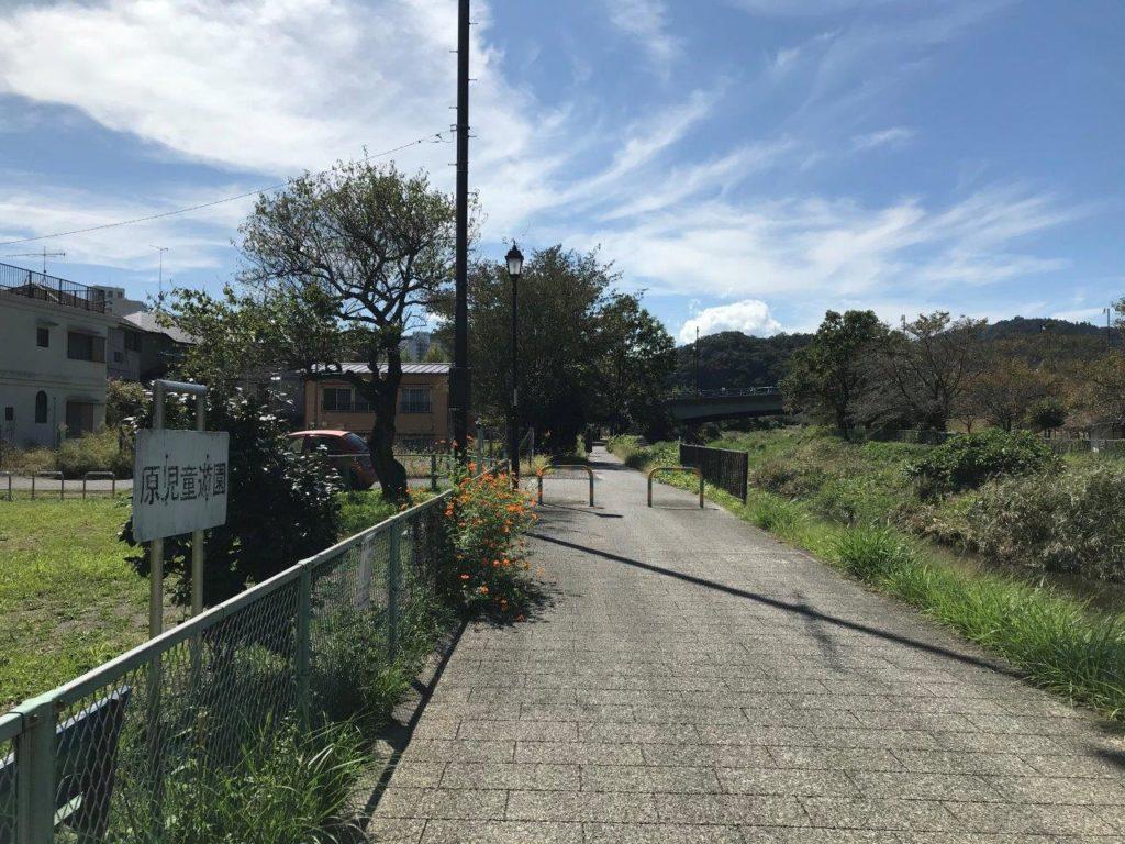 古道橋通過後
