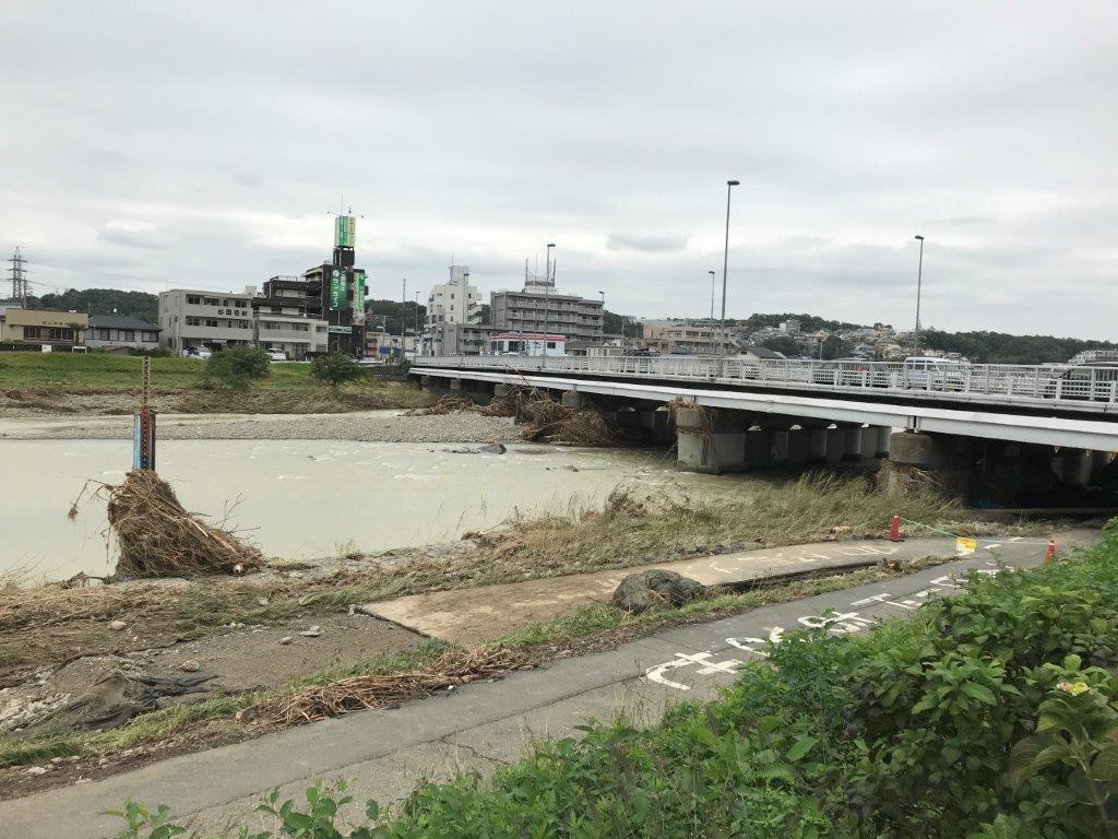 浅川橋上流側から
