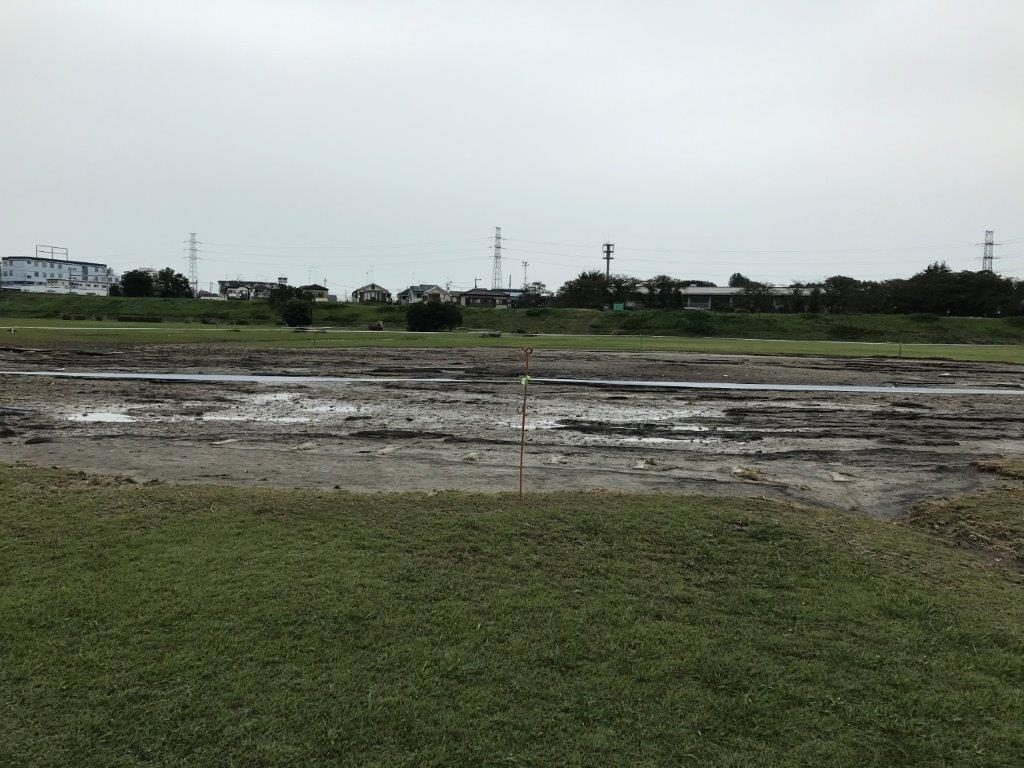河川敷ルート泥風景