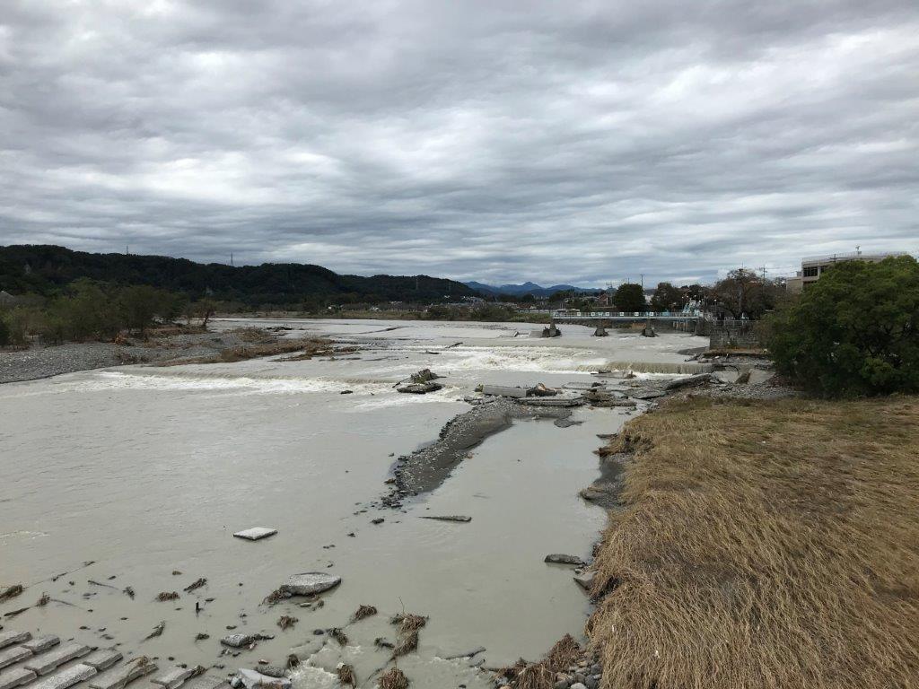 羽村取水堰の全景