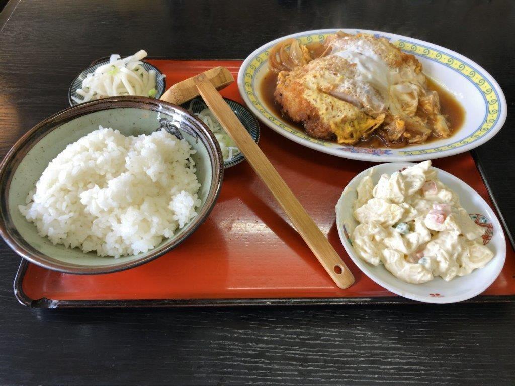 チキンの煮カツに半ライス2019.11.03