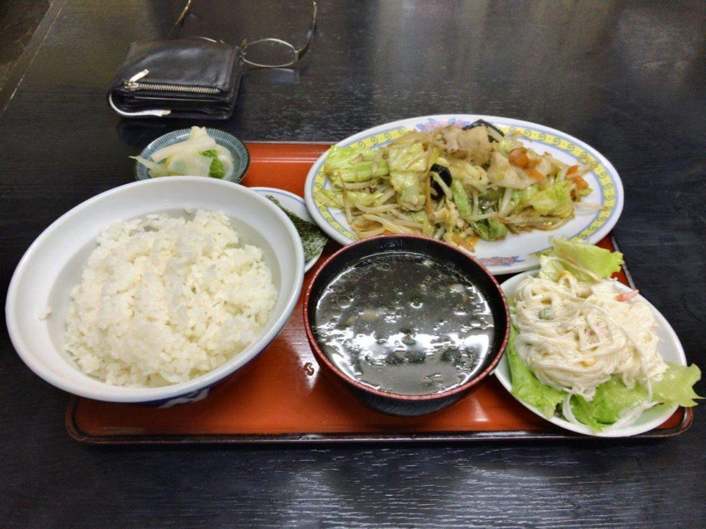 野菜イタメ定食2019.11.23