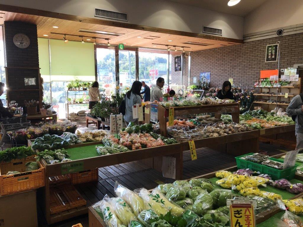 八王子産野菜売り場