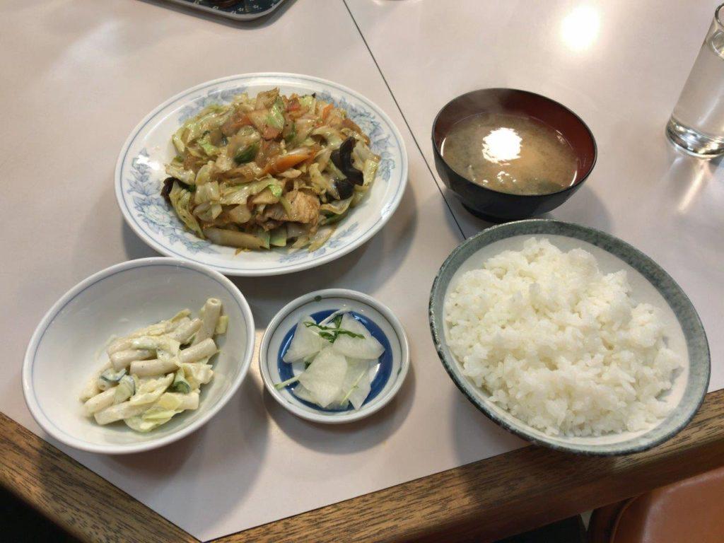 肉野菜炒め定食全景2020.01.23