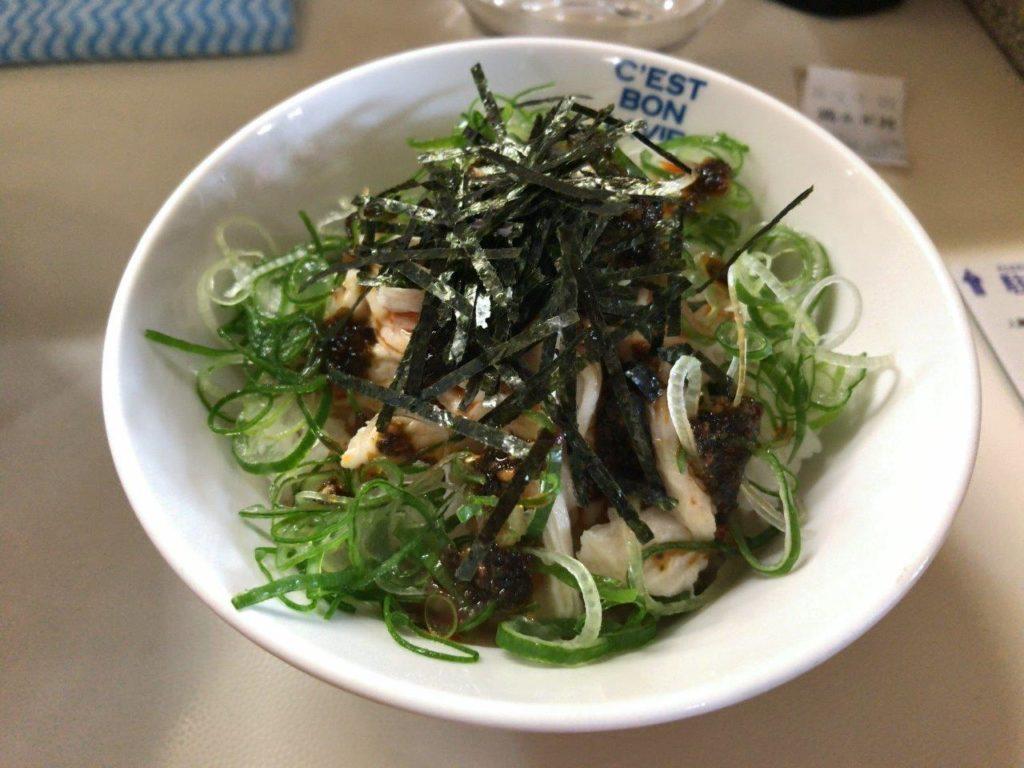 ピリ辛鶏ねぎ丼2020.02.03