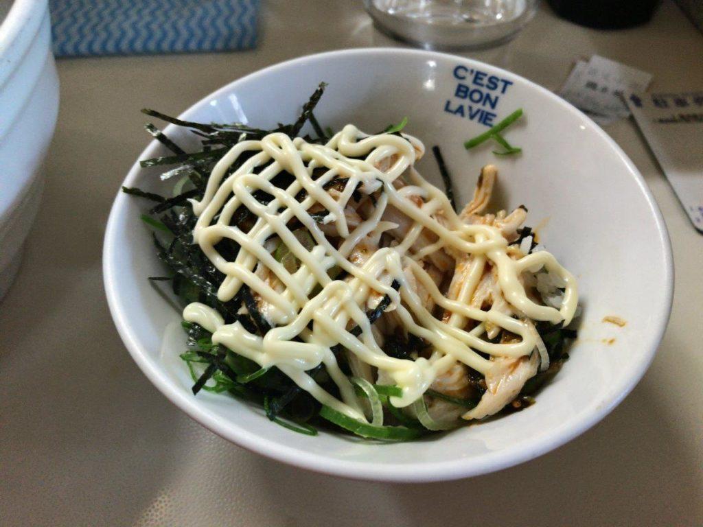 ピリ辛鶏ねぎ丼マヨネーズがけ2020.02.03